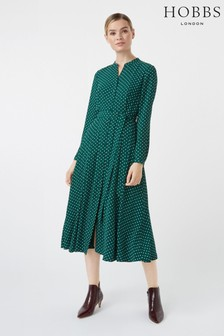 Hobbs Green Tarini Dress