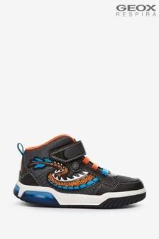 Geox  Junior Boys Inek Black/Orange Shoes