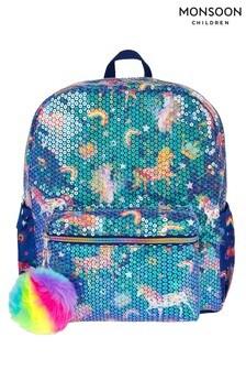 Monsoon Sequin Fun Unicorn Backpack