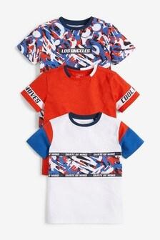 3 Pack Camo Splat T-Shirts (3-16yrs)