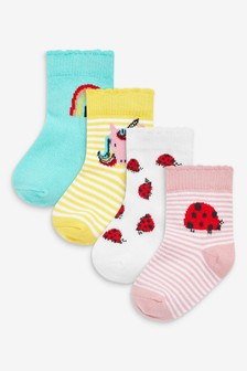 4 Pack Bright Socks (Younger)