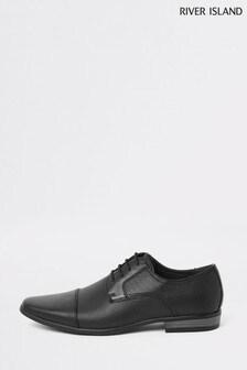 River Island Black Reggae Toe Cap Shoes
