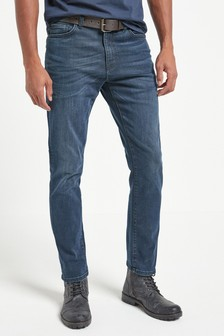Belt Dark Wash Slim Fit Jeans