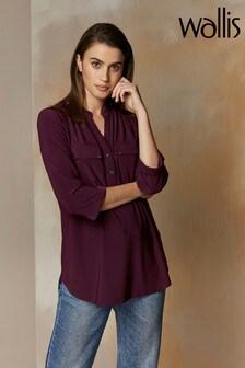 Wallis Purple Mulberry Utility Shirt
