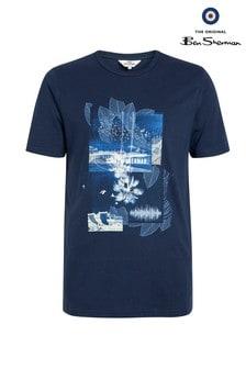 Ben Sherman Main Line Blue Promenade T-Shirt