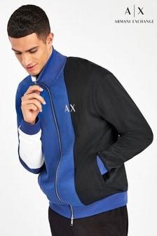 Armani Exchange Blue Zip Jacket