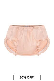 Paz Rodriguez Baby Girls Pink Cotton Bloomers