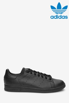 adidas Orignals Black Stan Smith Trainers