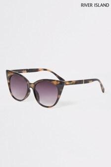 River Island Tortoiseshell Effect Polly Cat-Eye Sunglasses