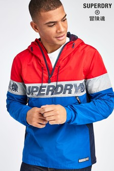 Superdry Red Ryley Overhead Jacket