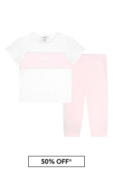 Boss Kidswear BOSS Baby Girls White Cotton Set