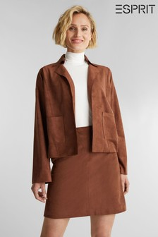 Esprit Brown Suede Indoor Jacket