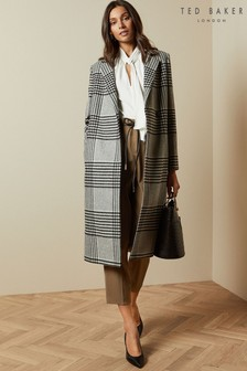 Ted Baker Check Straight Coat