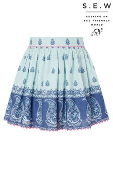 Monsoon Blue S.E.W Dannika Print Skirt