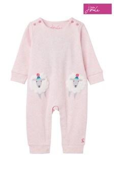 Joules Pink Gracie Appliqué Babygrow