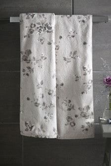 Grey Floral Towel