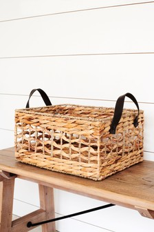 Plaited Seagrass Tray Basket