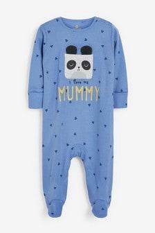 I Love My Mummy Panda Sleepsuit (0mths-2yrs)