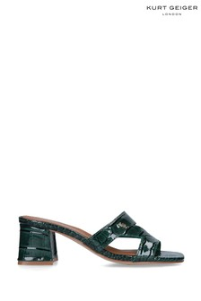 Kurt Geiger Ladies Green Print Heels