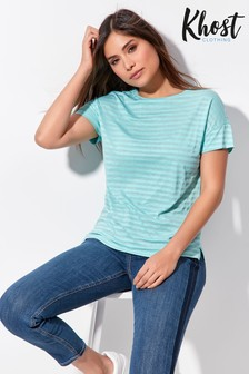Khost Blue Burn Out Stripe T-Shirt