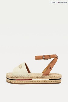 Tommy Hilfiger Cream Tropical Fade Espadrille Sandals
