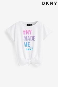 DKNY White Text T-Shirt