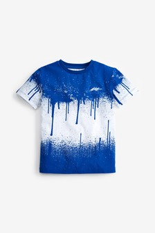 Splat Print Short Sleeve Jersey T-Shirt (3-16yrs)