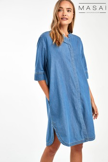 Masai Blue Nimes Shirt Dress