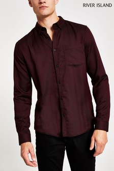 River Island Berry Casual Texture Shirt