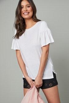Smocked T-Shirt