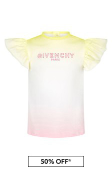 Givenchy Kids Baby Girls Black Multicoloured Cotton T-Shirt