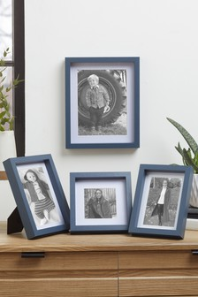 Set of 2 Blue Gallery Photo Frames