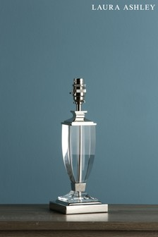 Chrome Carson Polished Nickel Crystal Small Table Lamp Base