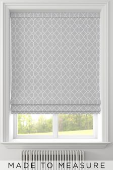 Earle Silver Grey Made To Measure Roman Blind
