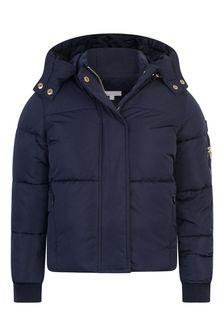 Chloe Kids Girls Navy Padded Jacket