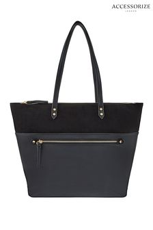 Accessorize Black Molly Tote Bag