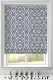 Earle Steel Grey Made To Measure Roman Blind