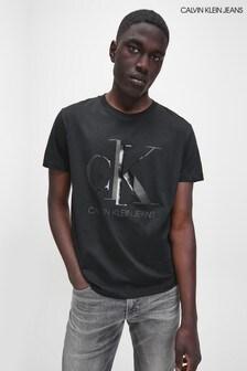 Calvin Klein Jeans Black Shiny Monogram T-Shirt