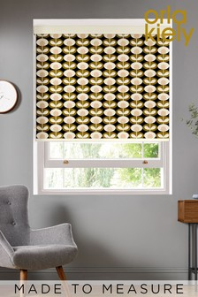 Oval Flower Seagrass Green Made To Measure Roller Blind by Orla Kiely