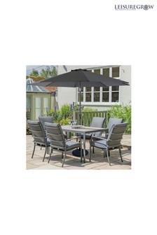 Milano 6 Seater Dining Set By Leisuregrow