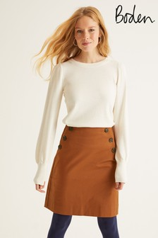 Boden Brown Imogen Mini Skirt