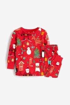 Christmas Print Snuggle Pyjamas (9mths-12yrs)
