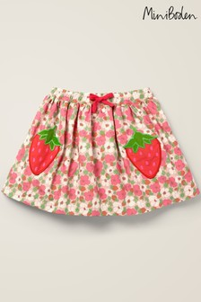 Boden Pink Novelty Pocket Woven Skirt