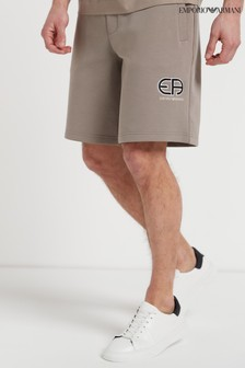 Emporio Armani Retro Logo Jersey Shorts