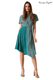Phase Eight Green Finella Printed Dress