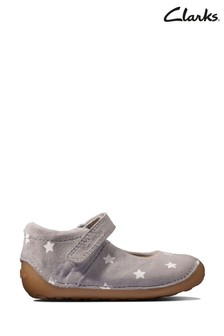 Clarks Grey Interest Tiny Mist T Shoes