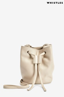 Whistles Taupe Ammie Mini Drawstring Bag