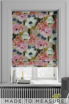 Nikita Floral Pink Made To Measure Roman Blind