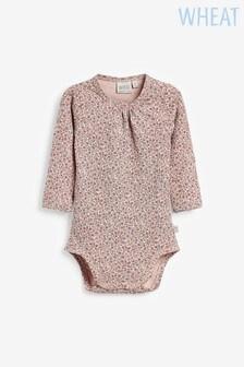 Wheat Pink Long Sleeve Bodysuit