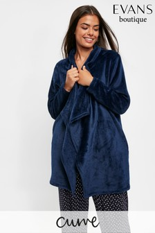 Evans Curve Navy Waterfall Robe